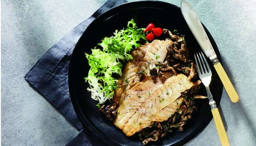 [Receita] Filé de pescada com shimeji