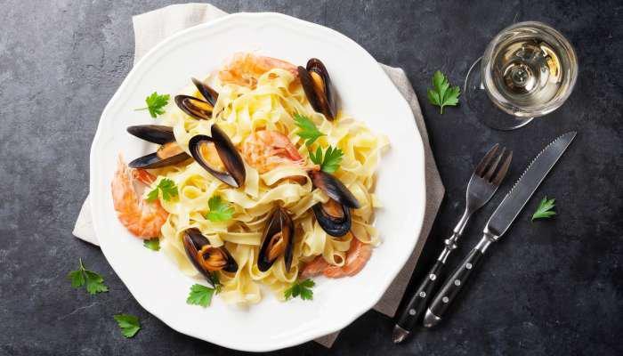 harmonização de vinhos e massa - frutos do mar