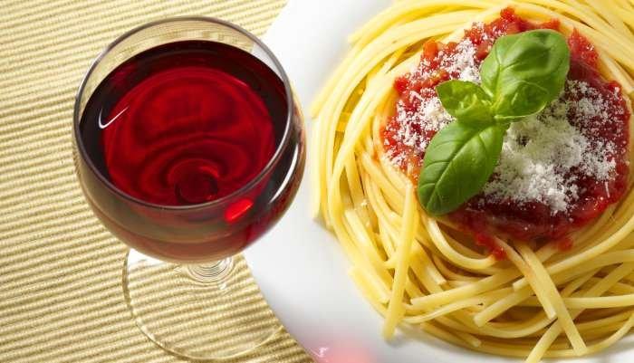 harmonização de vinhos e massa - tomate