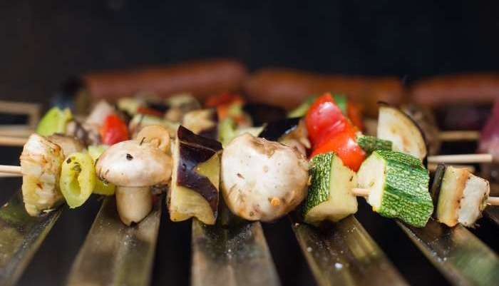 churrasco vegetariano - espetinho