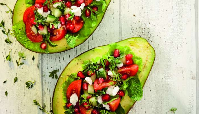 salada de abacate - texto