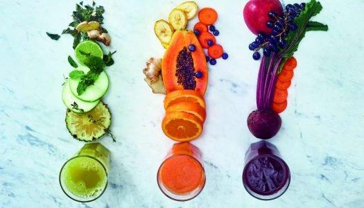 3 receitas de sucos coloridos