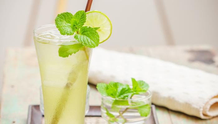 chá gelado - verde