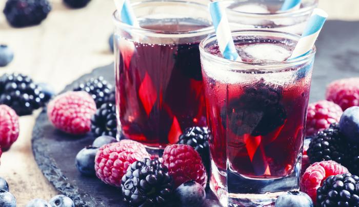 chá gelado - vermelho