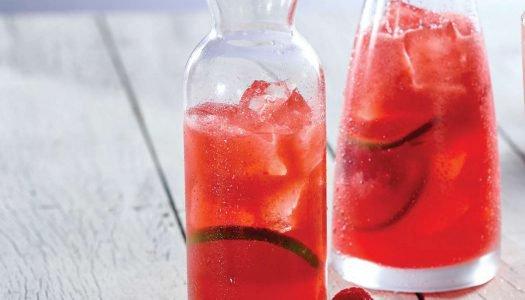 [Receita] Pink lemonade com água de coco