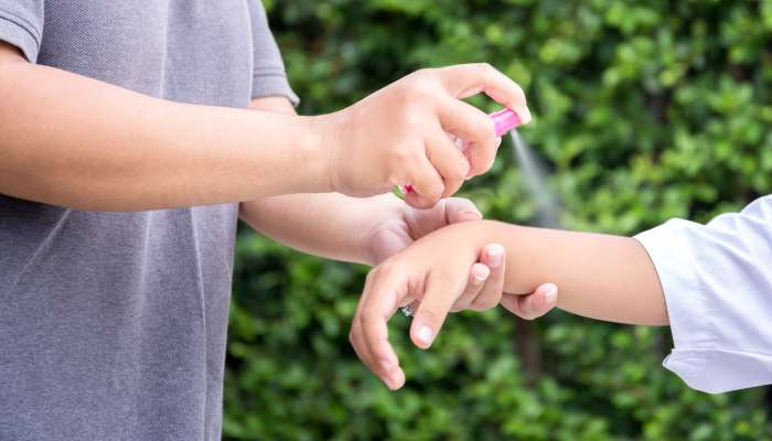 uso de repelentes - crianças