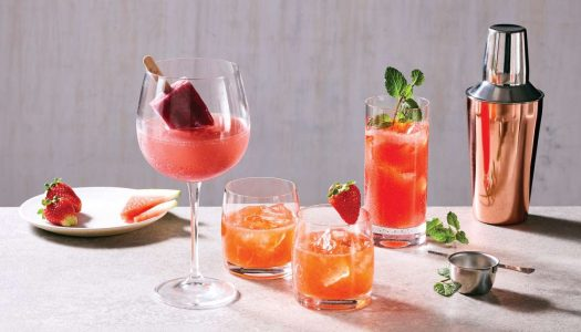 [Receita] Strawberry whiskey lemonade