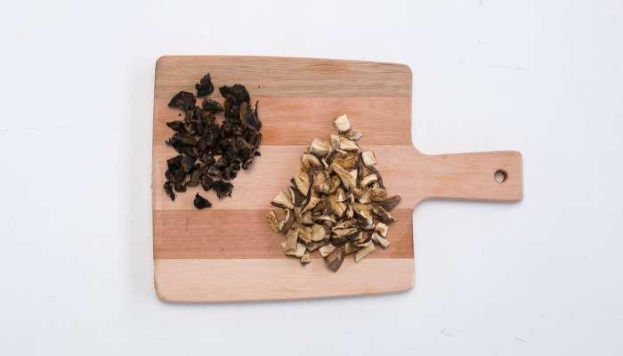 risoto de cogumelos Passo 1