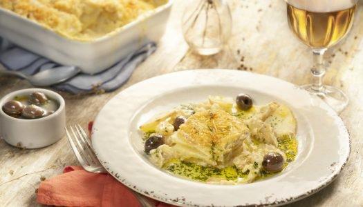 [Receita Cheftime] Bacalhau com Natas e Confit de Azeitonas Pretas