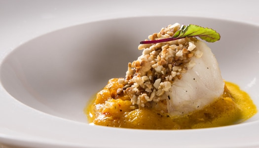 [Receita] Bacalhau confit com crosta e purê de abóbora