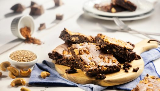 [Receita Cheftime] Brownie Funcional com Castanha de Caju