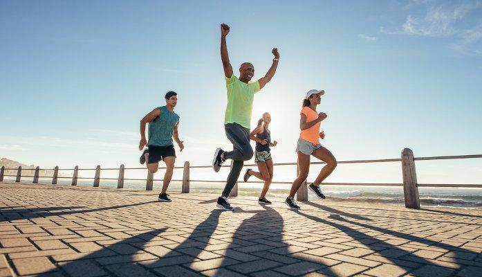 correr com companhia equipe