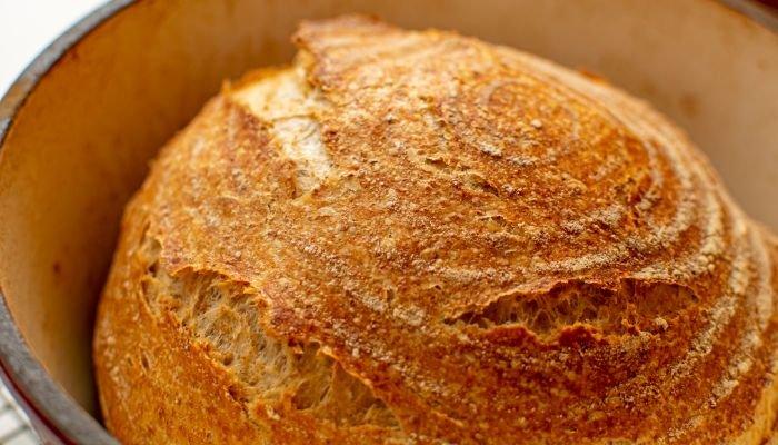 pão caseiro levain pronto