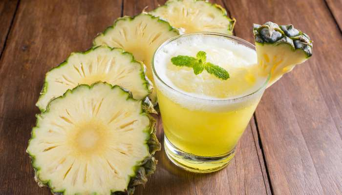 receitas com água de coco - abacaxi