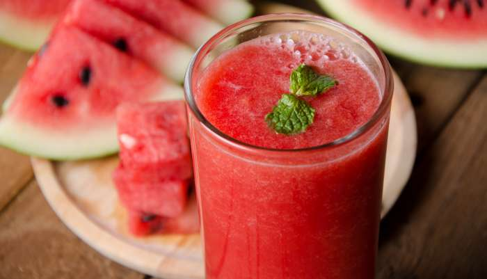 receitas com água de coco - melancia