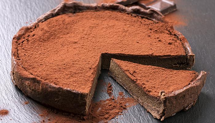 torta de chocolate - texto