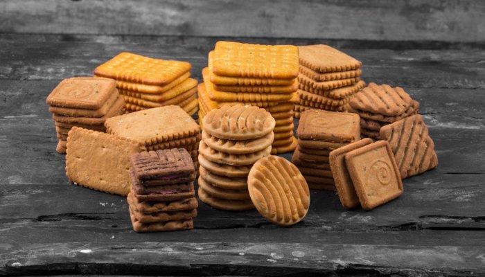 cesta de café da manhã - biscoito