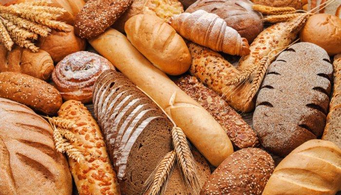 cesta de café da manhã - pão