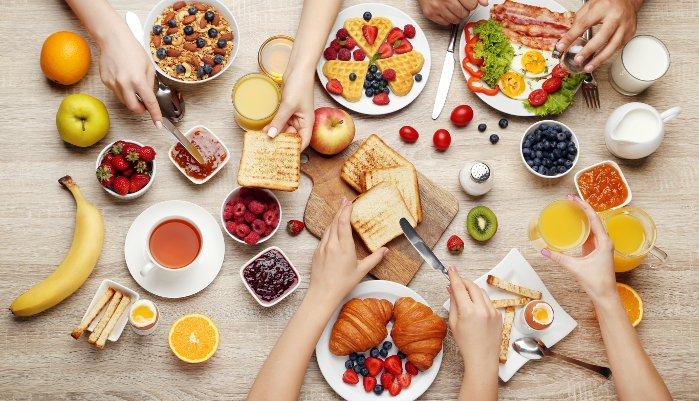 café da manhã - variado