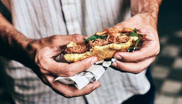 hambúrguer vegano - textura