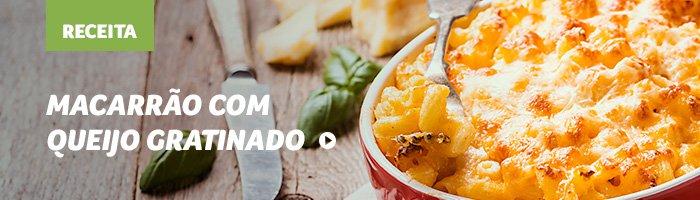 macarrão com queijo gratinado