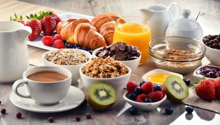 café da manhã servido