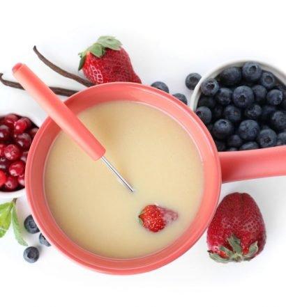 receita de fondue de chocolate branco