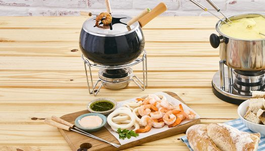 [Receita] Fondue de frutos do mar