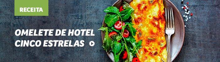lanches rápidos e saudáveis omelete