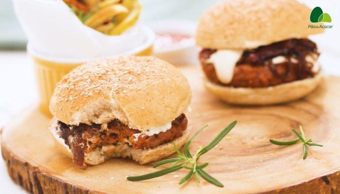 receita de hambúrguer vegetal