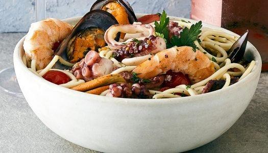 [Receita] Espaguete com frutos do mar