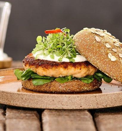 Receita de hambúrguer de salmão