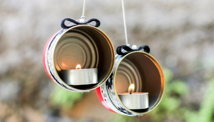 decoração sustentável lata