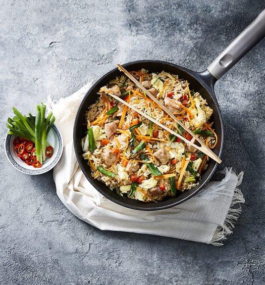 receita de fried rice de mignon suíno