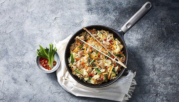 fried rice de mignon suíno