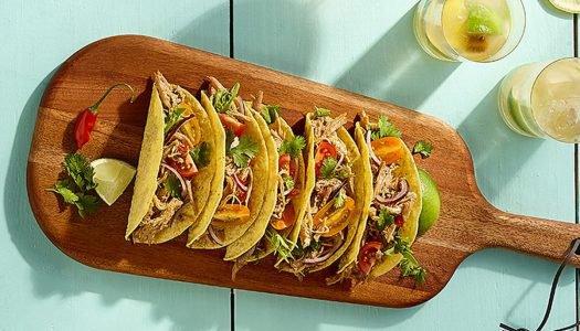[Receita] Tacos com pernil suíno