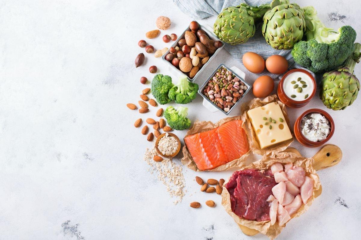 alimentos ricos em fibra e proteína capa