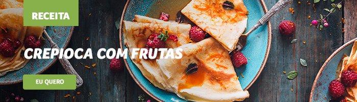 café da manhã saudável e rápido crepioca com frutas