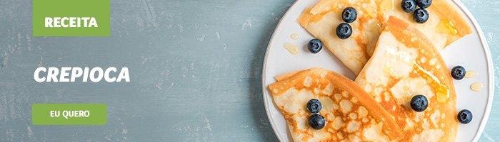café da manhã saudável e rápido crepioca