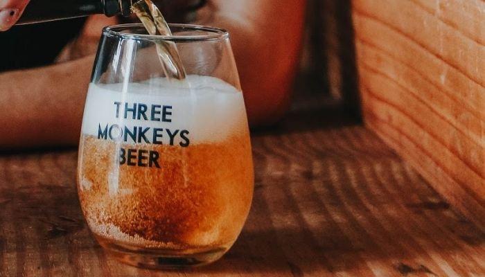 especial de microcervejaria three monkeys beer