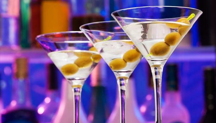 o que é dry martini taças