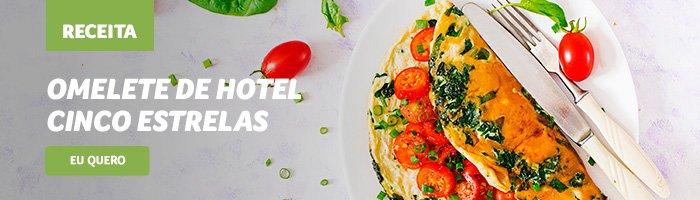 café da manhã saudável e rápido omelete