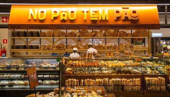 reinauguração de lojas pão