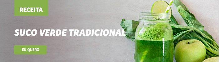 café da manhã saudável e rápido suco verde