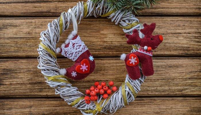 decoração de natal sustentável guirlanda nova