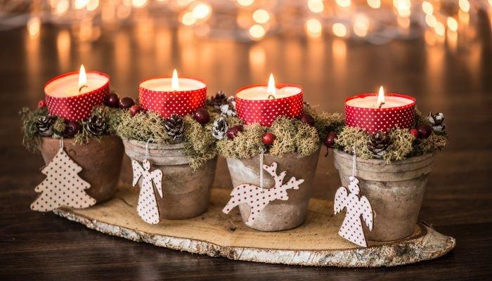 decoração de natal sustentável vela
