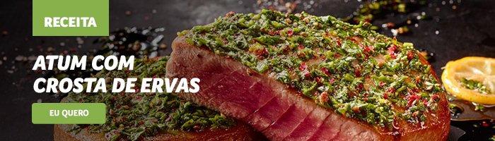 opções de jantar saudável Atum_com_crosta_de_ervas