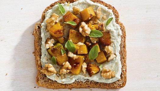 [Receita] Tartine de gorgonzola com abóbora