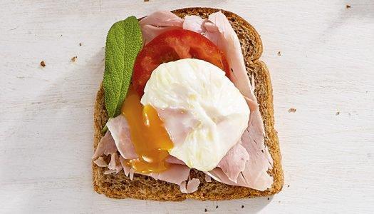 [Receita] Tartine de presunto com ovo pochê