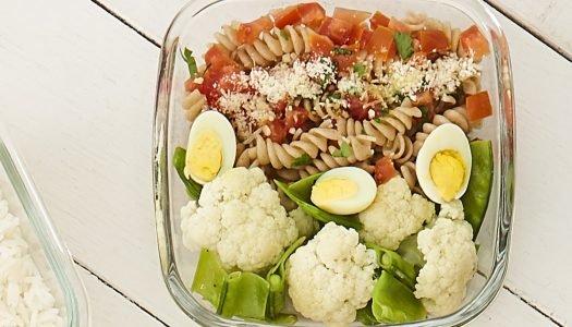 [Receita] Marmita com macarrão e legumes